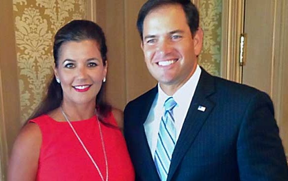 Adriana Cohen and Marco Rubio