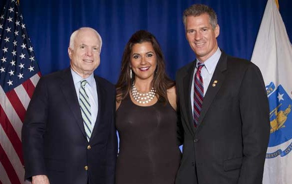 Adriana Cohen with Senators John McCain and Scott Brown