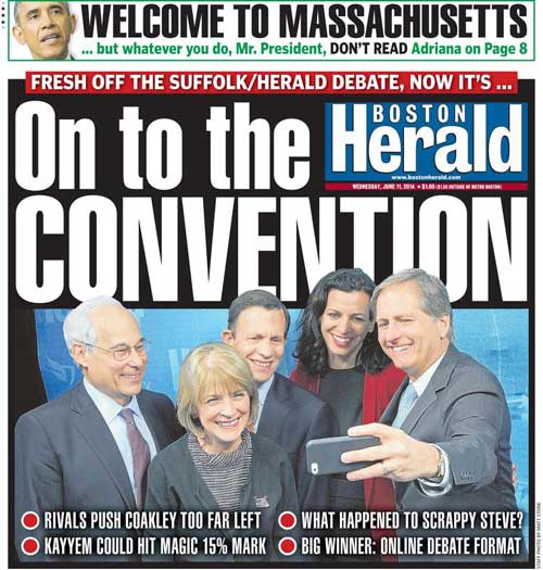 Adriana: Boston Herald | June 11, 2014