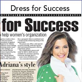 adriana cohen collaborates with Talbot's Dress for Success Initiative