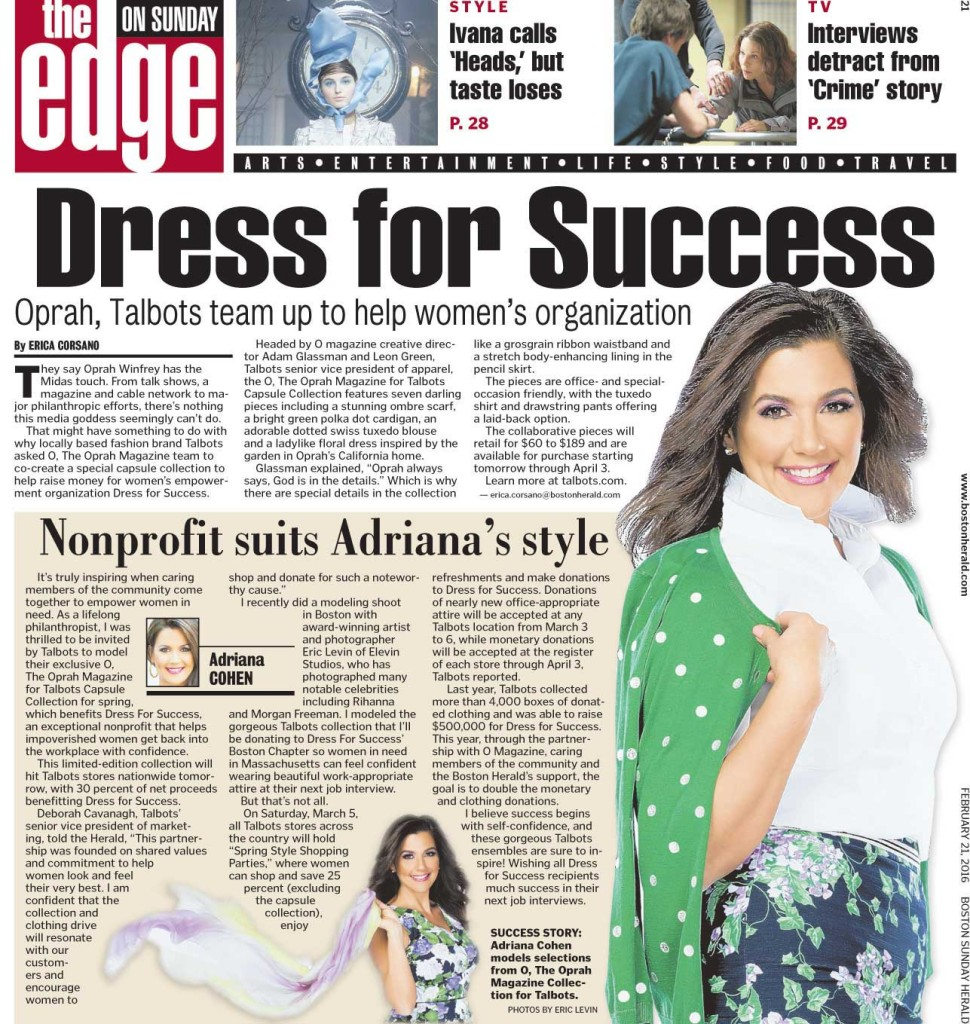 Adriana Cohen models for Talbots Dress for Success